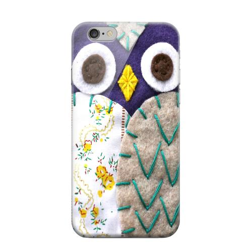 Geeks Designer Line (GDL) Apple iPhone 6 Matte Hard Back Cover - Blue/ Gray Owl