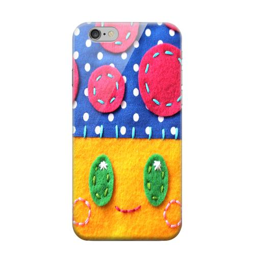 Geeks Designer Line (GDL) Apple iPhone 6 Matte Hard Back Cover - Blue/ Yellow Mushroom