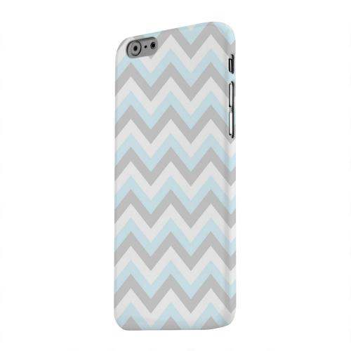 Geeks Designer Line (GDL) Apple iPhone 6 Matte Hard Back Cover - Blue on Gray on White