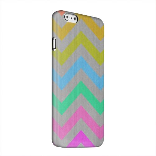 Geeks Designer Line (GDL) Apple iPhone 6 Matte Hard Back Cover - Grungy Multi-Colors on Gray