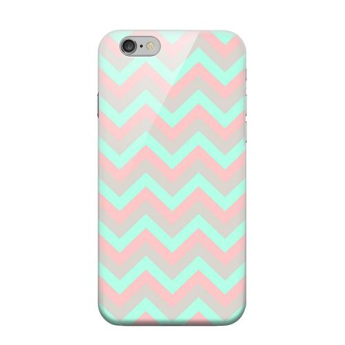 Geeks Designer Line (GDL) Apple iPhone 6 Matte Hard Back Cover - Green on Pink on Gray