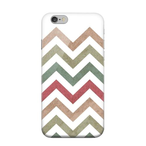 Geeks Designer Line (GDL) Apple iPhone 6 Matte Hard Back Cover - Grungy Green/ Red on White