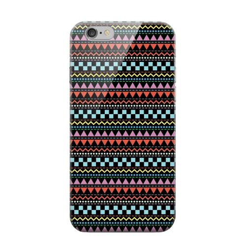 Geeks Designer Line (GDL) Apple iPhone 6 Matte Hard Back Cover - Multi-Shapes & Colors on Black