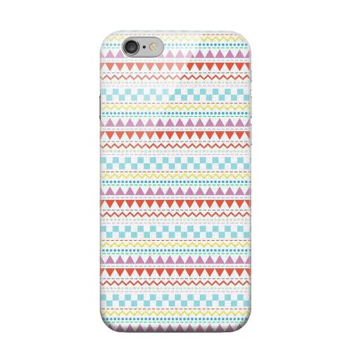 Geeks Designer Line (GDL) Apple iPhone 6 Matte Hard Back Cover - Multi-Shapes & Colors on White