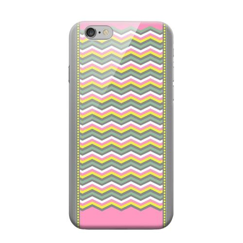 Geeks Designer Line (GDL) Apple iPhone 6 Matte Hard Back Cover - Green/ Yellow Dots w/ Pink & Gray