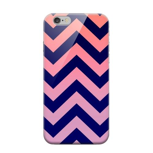 Geeks Designer Line (GDL) Apple iPhone 6 Matte Hard Back Cover - Pink/ Navy Blue Gradient