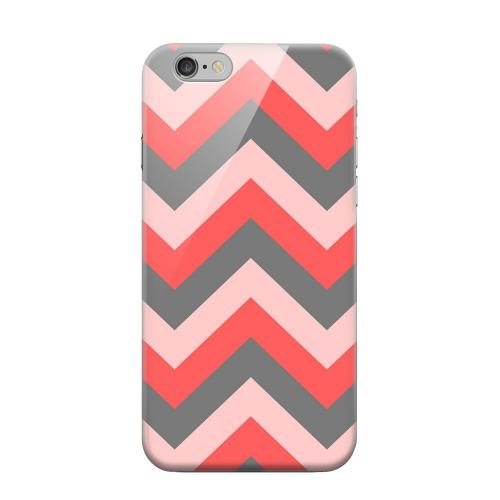 Geeks Designer Line (GDL) Apple iPhone 6 Matte Hard Back Cover - Red on Gray on Pink