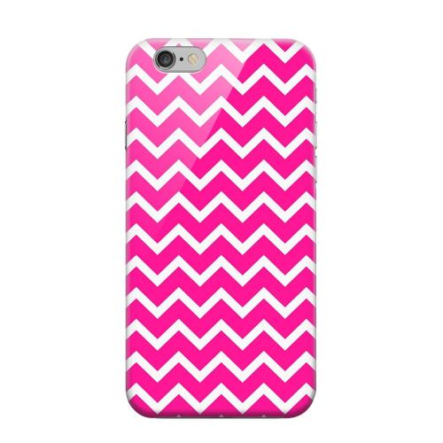 Geeks Designer Line (GDL) Apple iPhone 6 Matte Hard Back Cover - White on Hot Pink