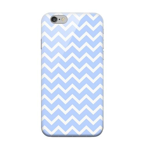 Geeks Designer Line (GDL) Apple iPhone 6 Matte Hard Back Cover - White on Light Blue