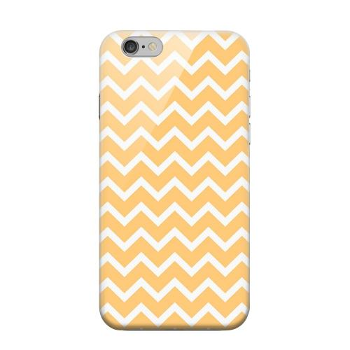 Geeks Designer Line (GDL) Apple iPhone 6 Matte Hard Back Cover - White on Light Orange