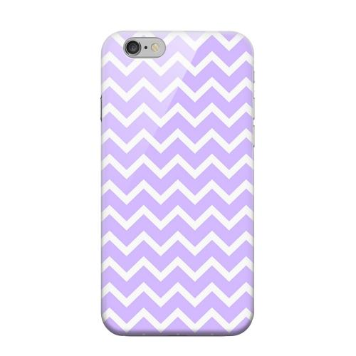 Geeks Designer Line (GDL) Apple iPhone 6 Matte Hard Back Cover - White on Light Purple