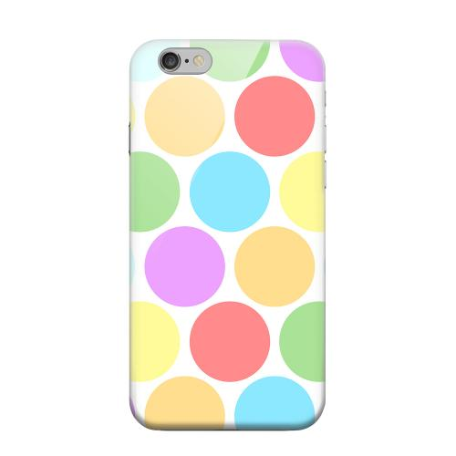 Geeks Designer Line (GDL) Apple iPhone 6 Matte Hard Back Cover - Big & Rainbow on White