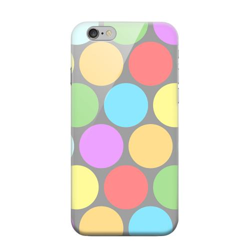 Geeks Designer Line (GDL) Apple iPhone 6 Matte Hard Back Cover - Big & Rainbow on Gray