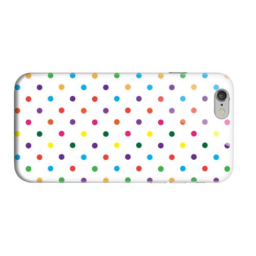Geeks Designer Line (GDL) Apple iPhone 6 Matte Hard Back Cover - Small & Rainbow on White