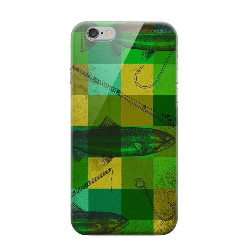Geeks Designer Line (GDL) Apple iPhone 6 Matte Hard Back Cover - Green Plaid Trout Design