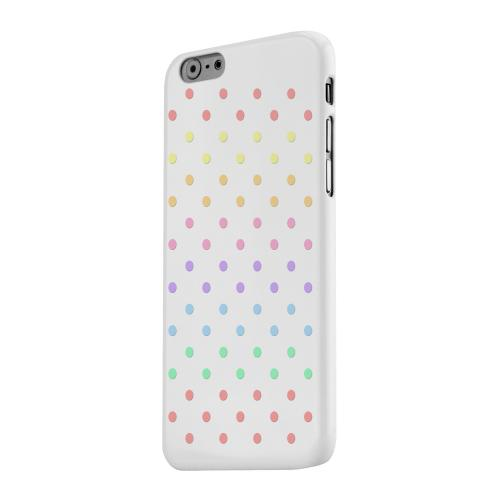 Geeks Designer Line (GDL) Apple iPhone 6 Matte Hard Back Cover - Rainbow Dots on White