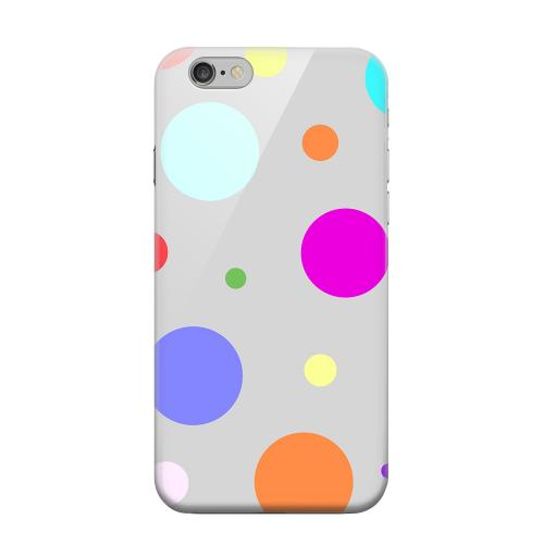 Geeks Designer Line (GDL) Apple iPhone 6 Matte Hard Back Cover - Random & Rainbow on Gray
