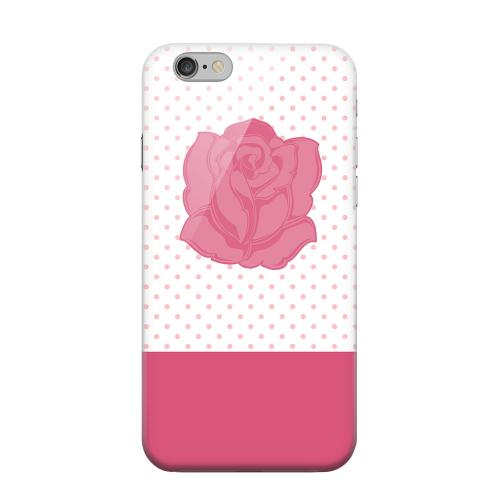 Geeks Designer Line (GDL) Apple iPhone 6 Matte Hard Back Cover - Pink Rose on White