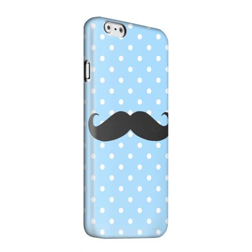 Geeks Designer Line (GDL) Apple iPhone 6 Matte Hard Back Cover - Stache on Sky Blue