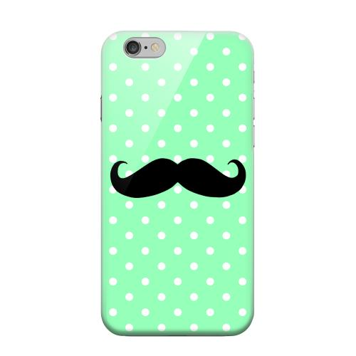 Geeks Designer Line (GDL) Apple iPhone 6 Matte Hard Back Cover - Stache on Mint