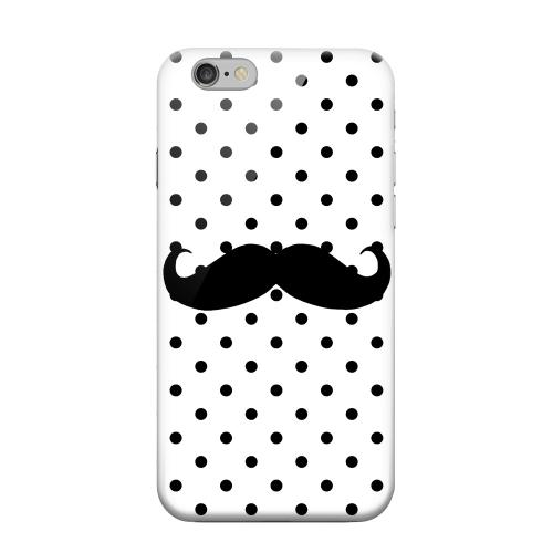 Geeks Designer Line (GDL) Apple iPhone 6 Matte Hard Back Cover - Stache on White