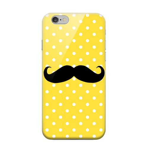 Geeks Designer Line (GDL) Apple iPhone 6 Matte Hard Back Cover - Stache on Yellow