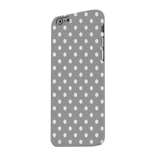 Geeks Designer Line (GDL) Apple iPhone 6 Matte Hard Back Cover - White Dots on Gray