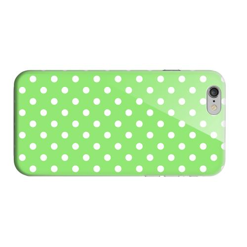 Geeks Designer Line (GDL) Apple iPhone 6 Matte Hard Back Cover - White Dots on Green