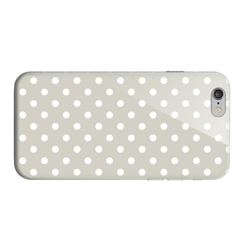 Geeks Designer Line (GDL) Apple iPhone 6 Matte Hard Back Cover - White Dots on Khaki