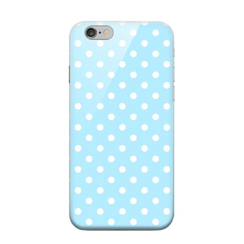 Geeks Designer Line (GDL) Apple iPhone 6 Matte Hard Back Cover - White Dots on Sky Blue