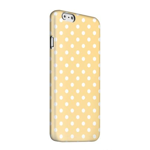 Geeks Designer Line (GDL) Apple iPhone 6 Matte Hard Back Cover - White Dots on Orange