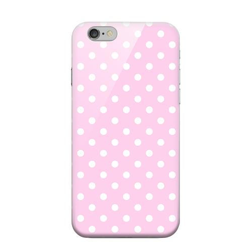Geeks Designer Line (GDL) Apple iPhone 6 Matte Hard Back Cover - White Dots on Baby Pink