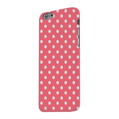 Geeks Designer Line (GDL) Apple iPhone 6 Matte Hard Back Cover - White Dots on Red