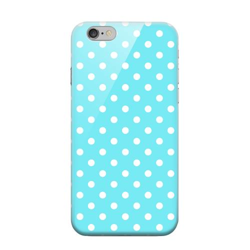 Geeks Designer Line (GDL) Apple iPhone 6 Matte Hard Back Cover - White Dots on Turquoise