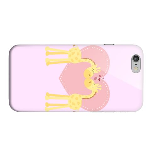 Geeks Designer Line (GDL) Apple iPhone 6 Matte Hard Back Cover - Giraffe Love on Baby Pink
