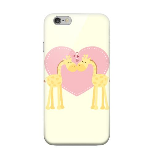 Geeks Designer Line (GDL) Apple iPhone 6 Matte Hard Back Cover - Giraffe Love on Light Yellow