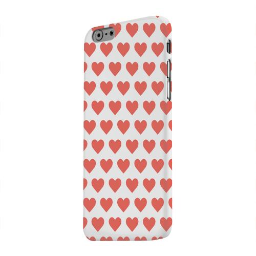 Geeks Designer Line (GDL) Apple iPhone 6 Matte Hard Back Cover - Red Hearts on White