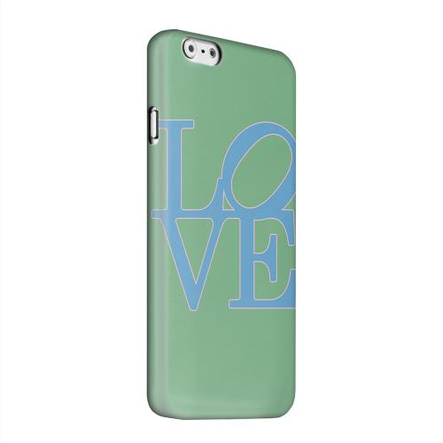 Geeks Designer Line (GDL) Apple iPhone 6 Matte Hard Back Cover - Blue Love on Green