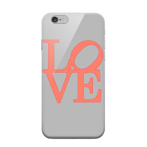 Geeks Designer Line (GDL) Apple iPhone 6 Matte Hard Back Cover - Pink Love on Gray