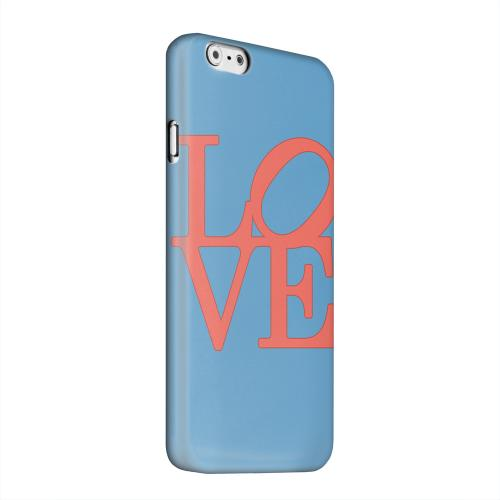 Geeks Designer Line (GDL) Apple iPhone 6 Matte Hard Back Cover - Red Love on Blue