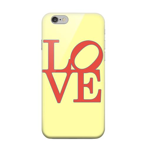 Geeks Designer Line (GDL) Apple iPhone 6 Matte Hard Back Cover - Red Love on Yellow