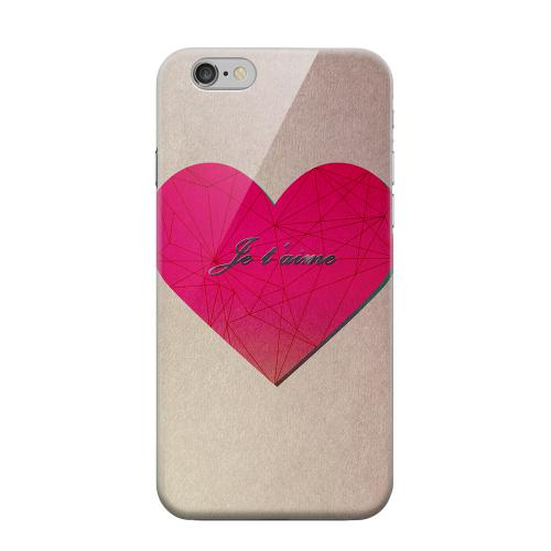 Geeks Designer Line (GDL) Apple iPhone 6 Matte Hard Back Cover - Je t'aime