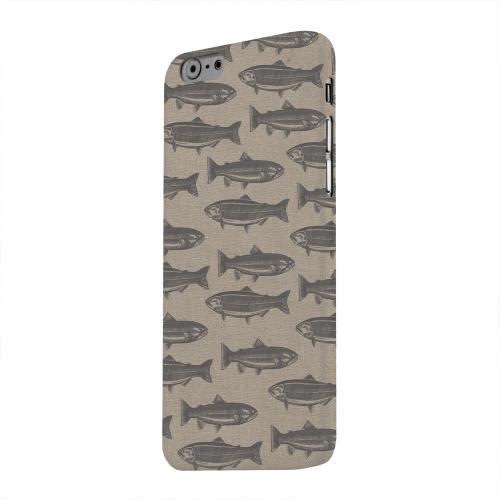 Geeks Designer Line (GDL) Apple iPhone 6 Matte Hard Back Cover - Vintage Salmon & Trout Print