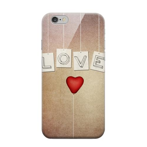 Geeks Designer Line (GDL) Apple iPhone 6 Matte Hard Back Cover - Love & Heart Balloon