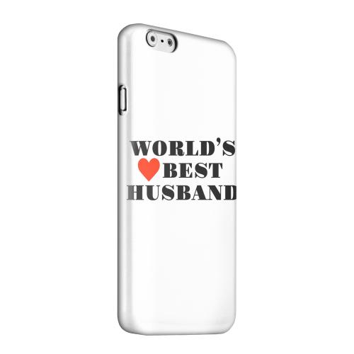 Geeks Designer Line (GDL) Apple iPhone 6 Matte Hard Back Cover - World's Best Husband