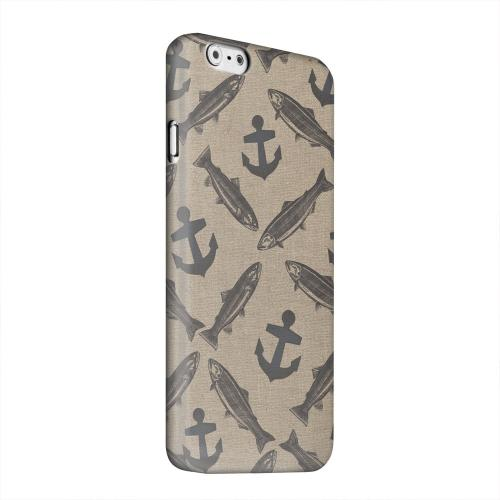 Geeks Designer Line (GDL) Apple iPhone 6 Matte Hard Back Cover - Vintage Salmon/Trout/Anchor Design