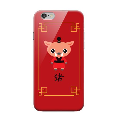 Geeks Designer Line (GDL) Apple iPhone 6 Matte Hard Back Cover - Chibi Pig