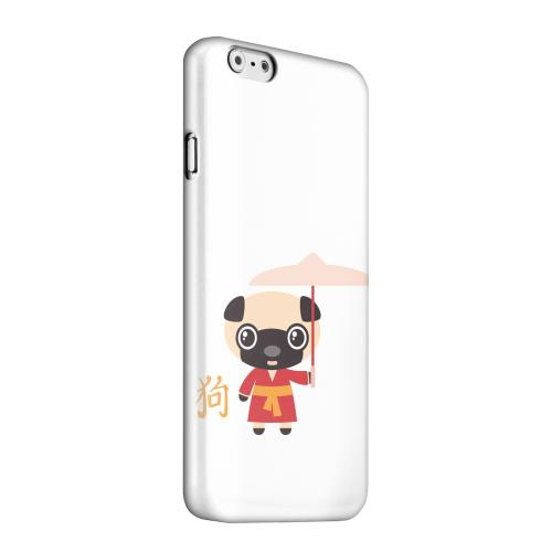 Geeks Designer Line (GDL) Apple iPhone 6 Matte Hard Back Cover - Dog on White