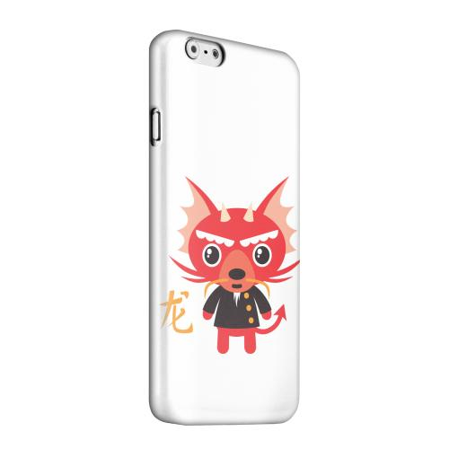 Geeks Designer Line (GDL) Apple iPhone 6 Matte Hard Back Cover - Dragon on White