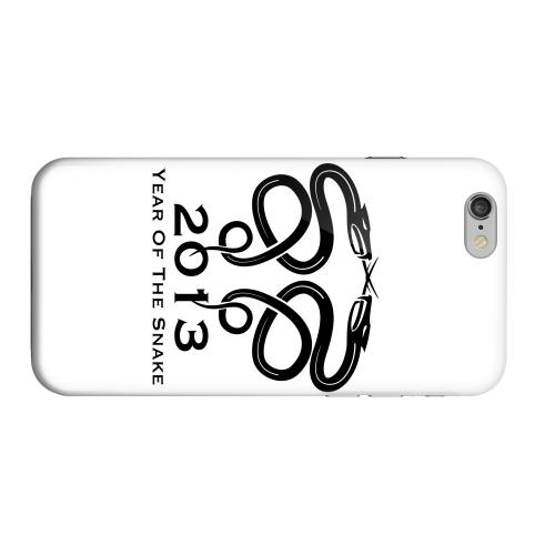 Geeks Designer Line (GDL) Apple iPhone 6 Matte Hard Back Cover - Dual Snake on White